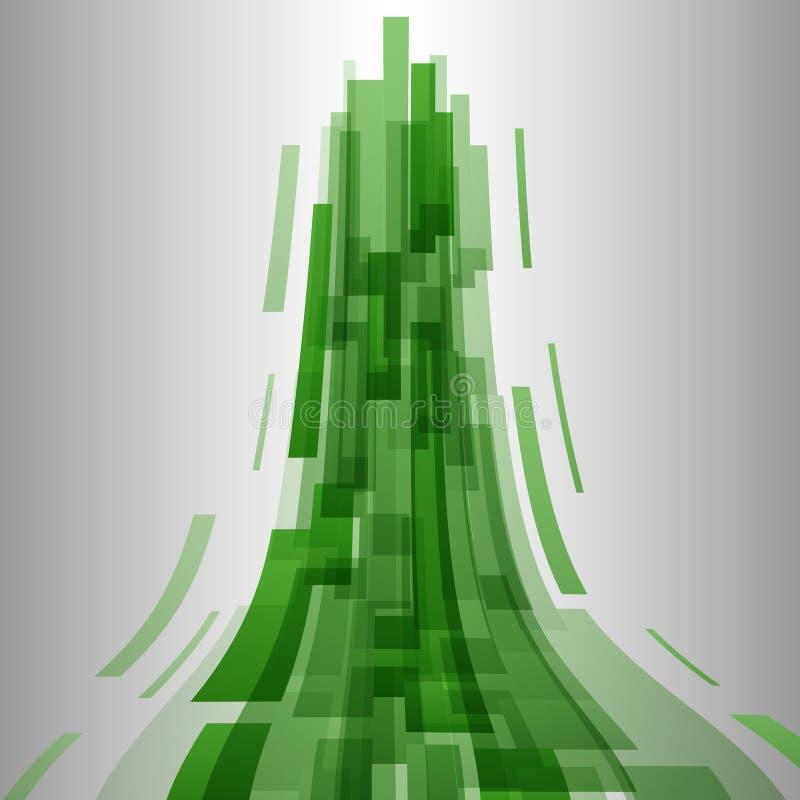 Abstraktów elementów technologii zielony tło royalty ilustracja
