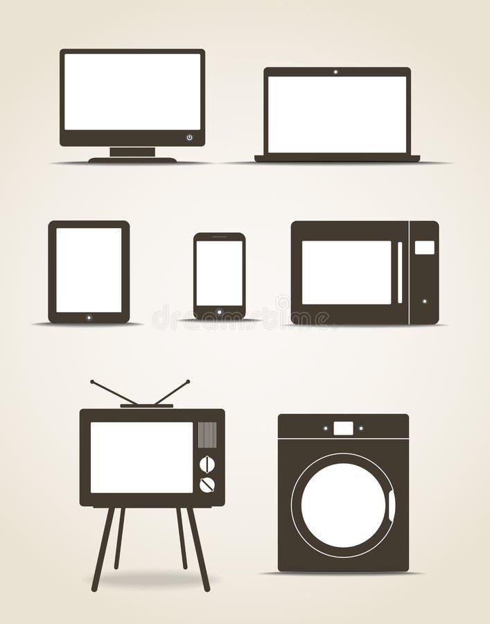 Abstraktów gadżety stylowi nowożytni ilustracji