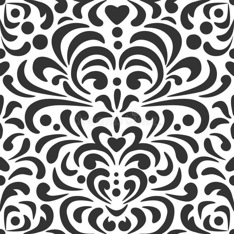 Download Abstraktów Kędziorów Wzór W Czarny I Biały Ilustracja Wektor - Ilustracja złożonej z grafika, naturalny: 53791849