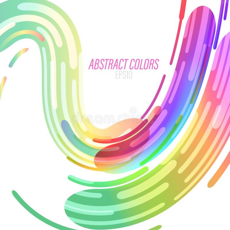 Abstraktów kolorów kształty na bielu royalty ilustracja