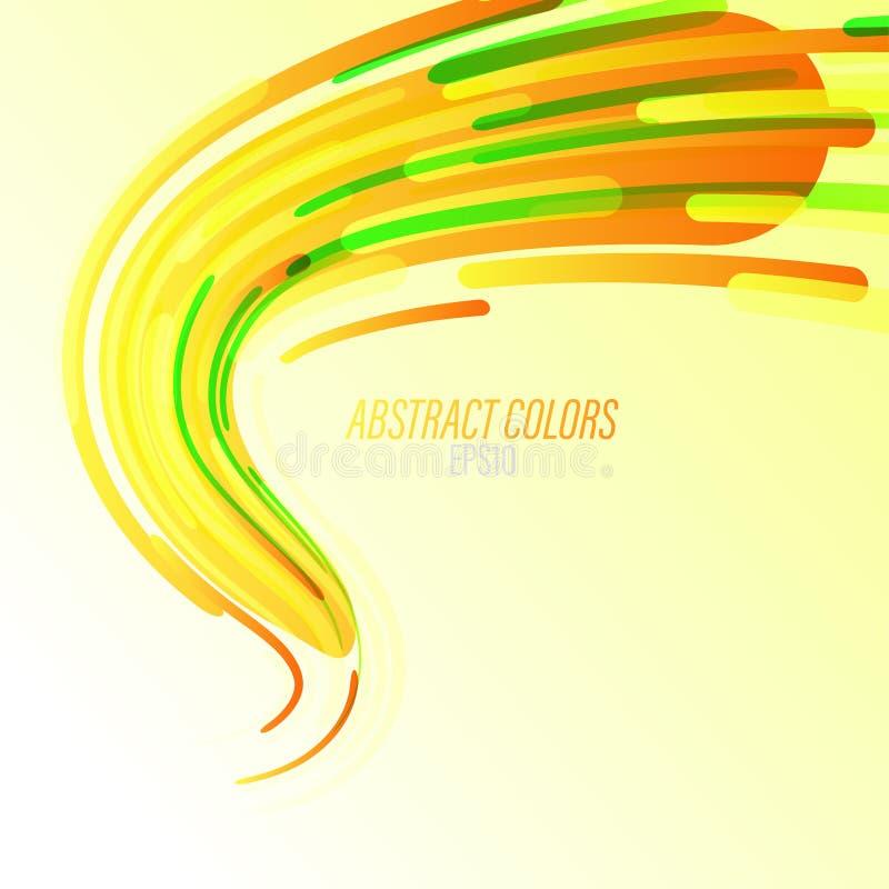 Abstraktów kolory wyginający się na zieleni ilustracji