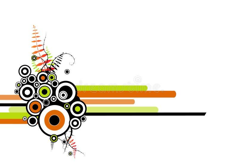 abstraktów kręgów paski ilustracja wektor