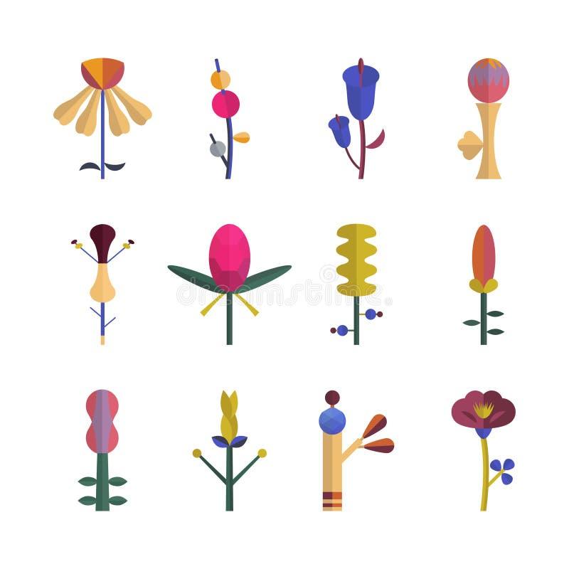 abstraktów kwiaty ilustracji