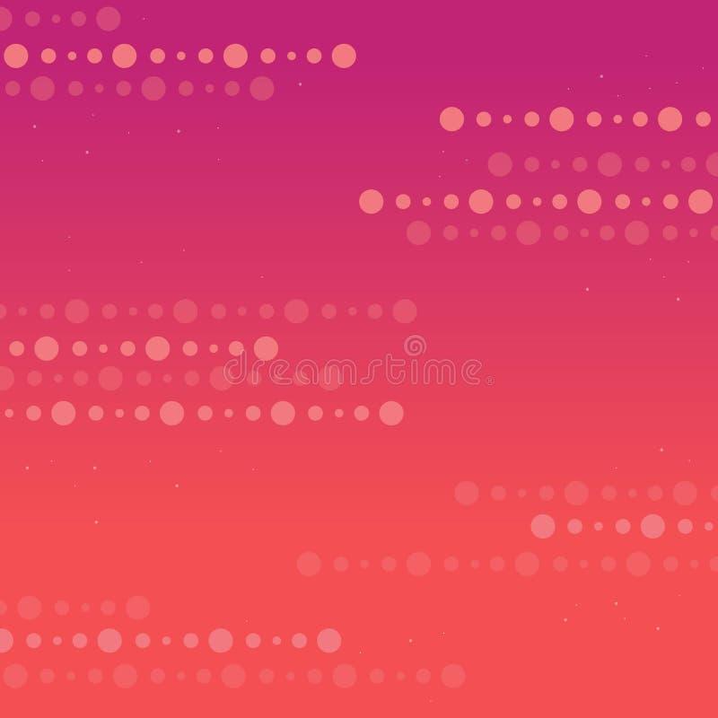 Abstraktów lampasów kropka z kolorowym ilustracja wektor