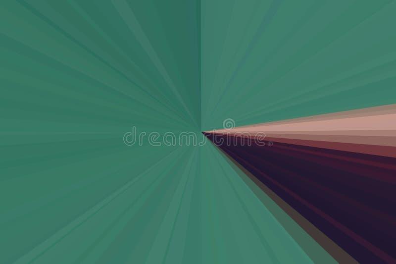 Abstraktów promieni zielony tło Kolorowy lampasa promienia wzór Eleganccy ilustracyjni nowożytni trendów kolory zdjęcie stock