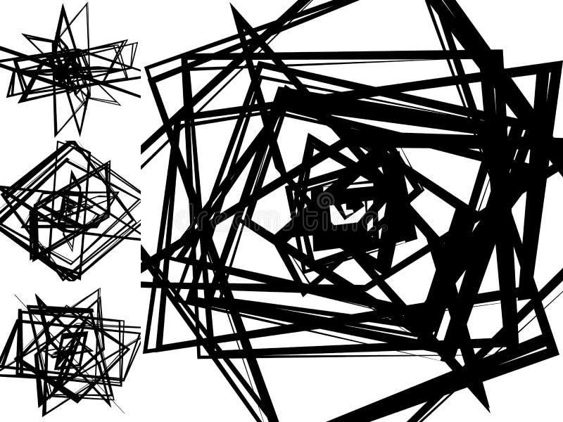 Abstraktów wzory z przypadkowymi, chaotycznymi zirytowanymi kształtami, nieregularnymi, d ilustracja wektor