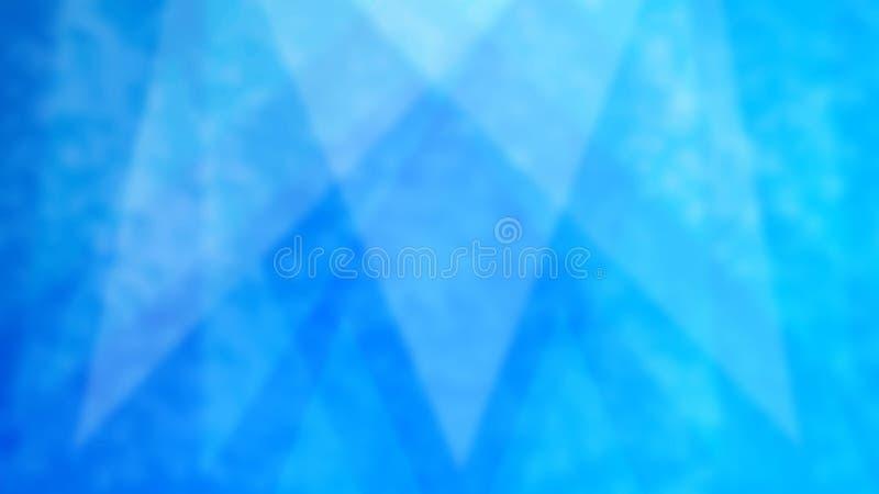 Abstraktów Zamazani trójboki w Błękitnym Grunge tle obraz royalty free