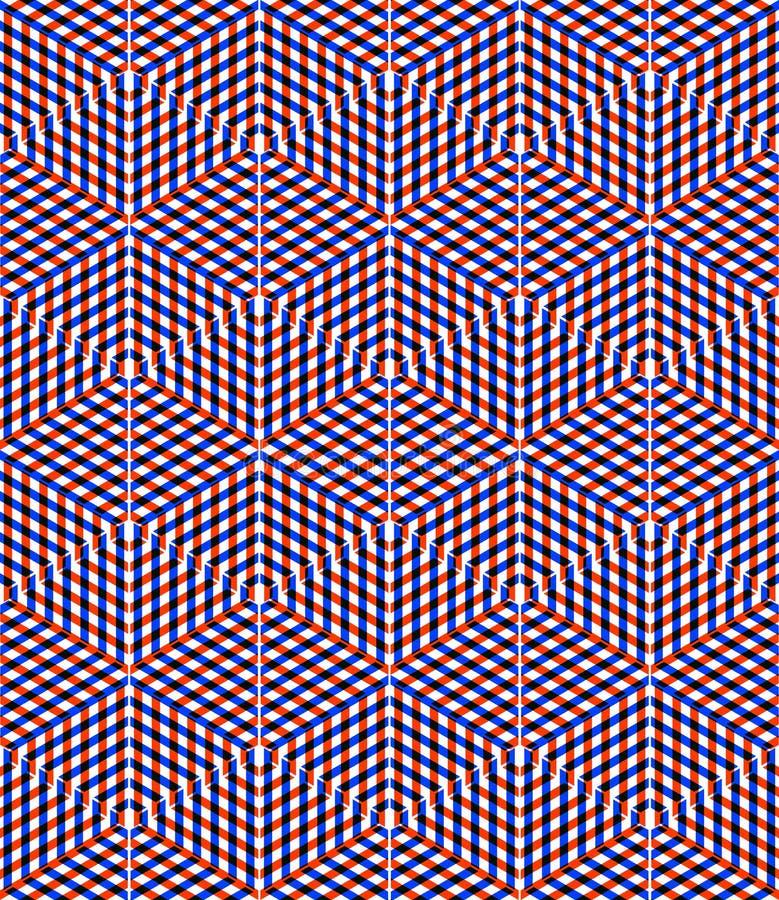 Abstrakt ändlös EPS10 bakgrund för samtida, three-dimensiona royaltyfri illustrationer