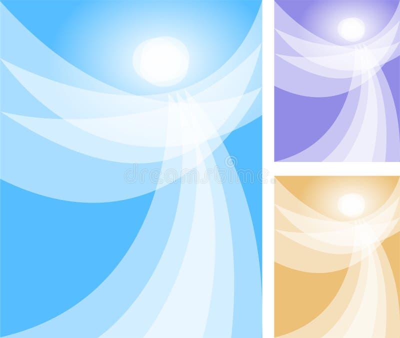 abstrakt ängeleps-ande stock illustrationer