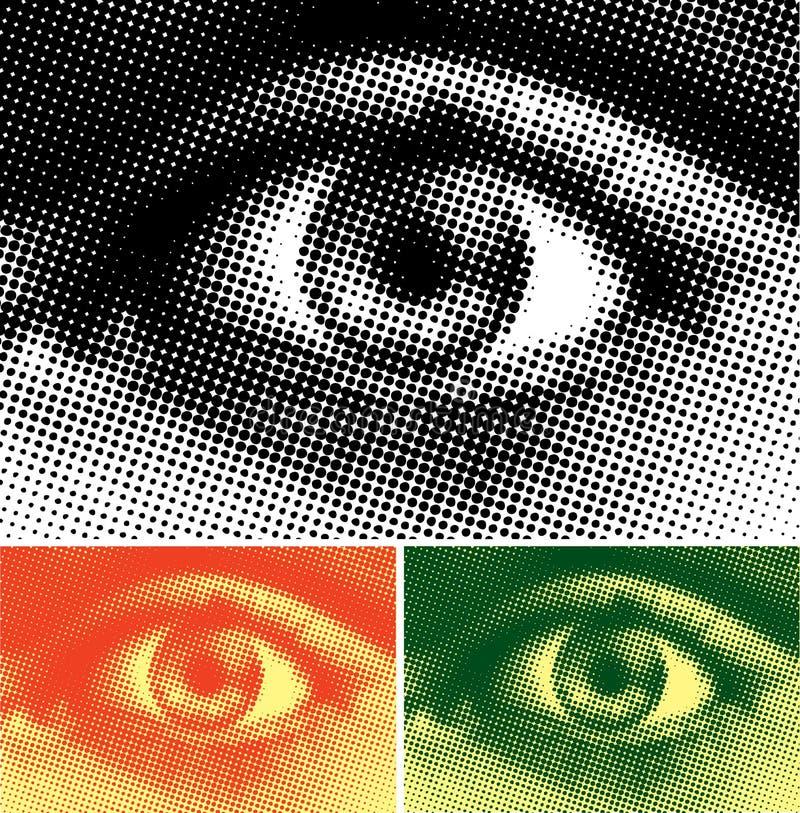 abstrakt öga vektor illustrationer