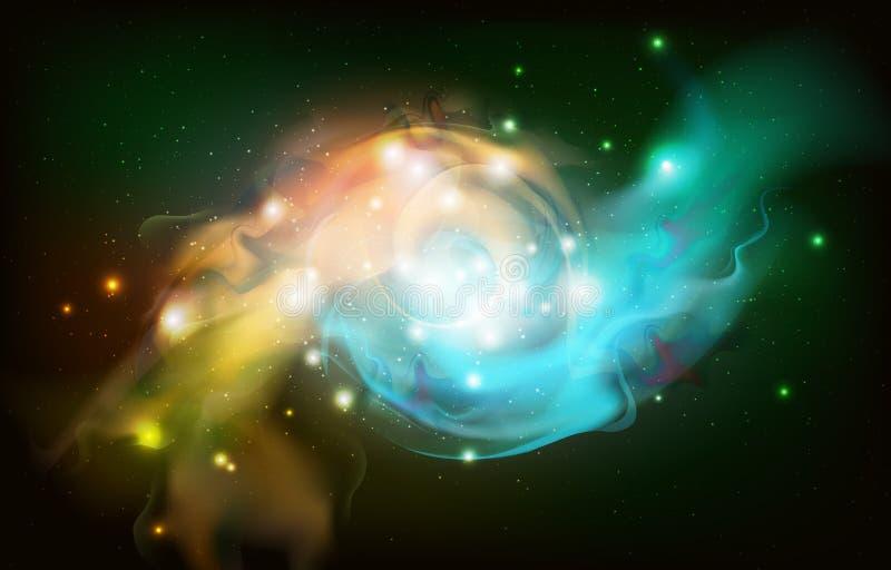 Abstrakt öppet utrymmebakgrund Starfield universum, nebulosa i galax royaltyfri illustrationer