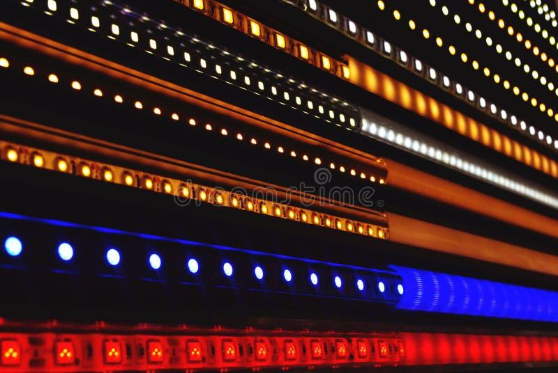 abstrakt, światło, technologia, czerń błękitny, cyfrowy, dowodzony, radiowy, projekt, internet, kolor, tekstura, film, muzyka, dy fotografia stock