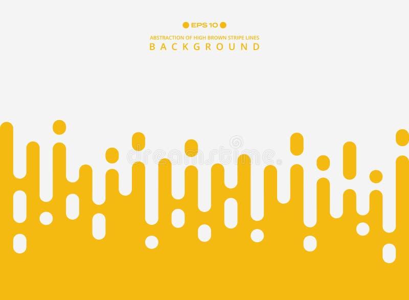 Abstrakt świeże żółte koloru lampasa linie deseniuje tło ilustracja wektor