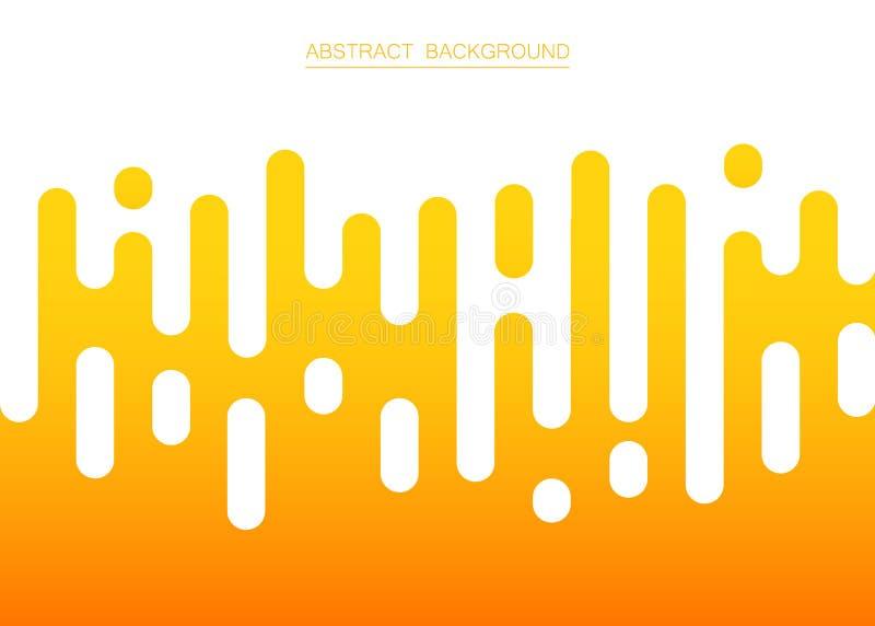 Abstrakt świeże żółte koloru lampasa linie deseniuje tło, ilustracji