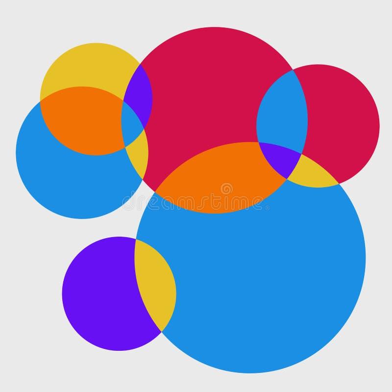 Abstrakt świeży kolorowy okręgu wzoru tło royalty ilustracja
