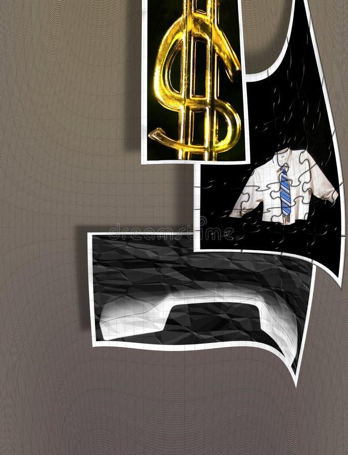 abstrakt affär som gör symboler för vinstpusseltecken royaltyfri illustrationer