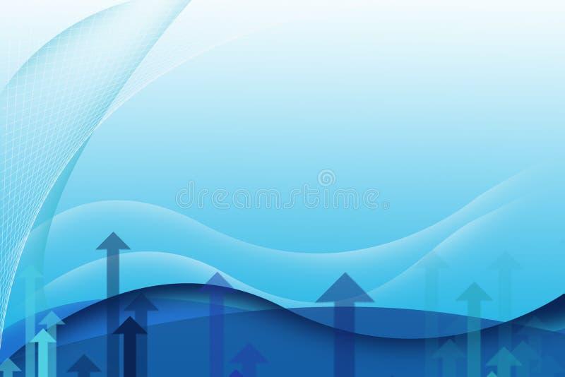 Abstrakt affärsbakgrund - blått arkivfoto