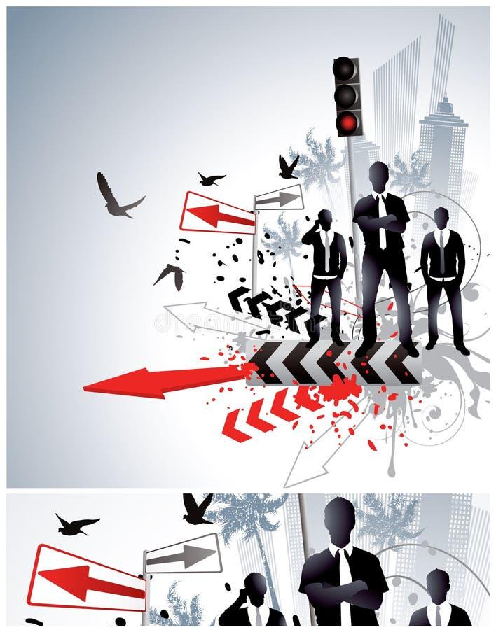 abstrakt affärsdesign stock illustrationer