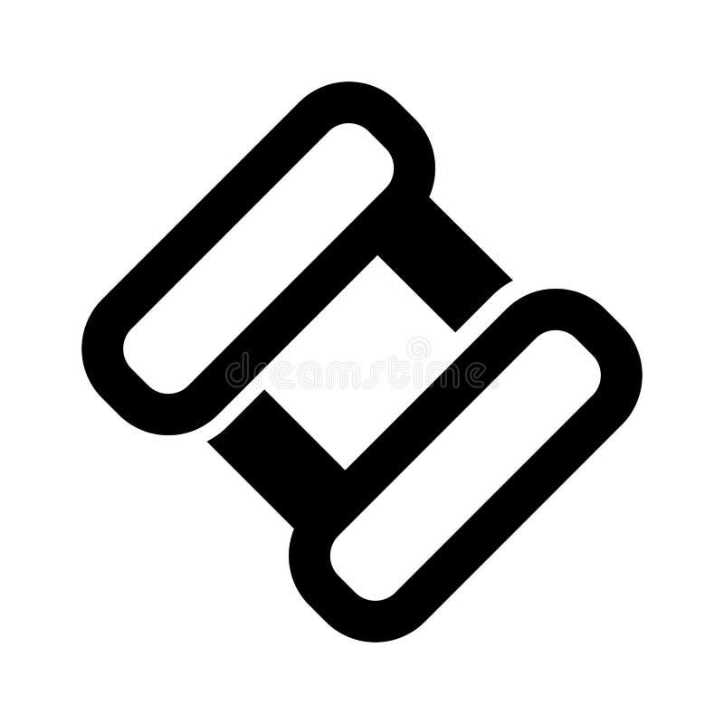Abstrakt affärssymbol stock illustrationer