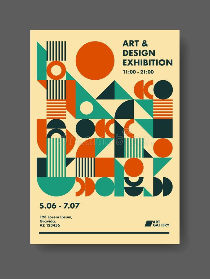 Abstrakt affischdesignmall vektor illustrationer