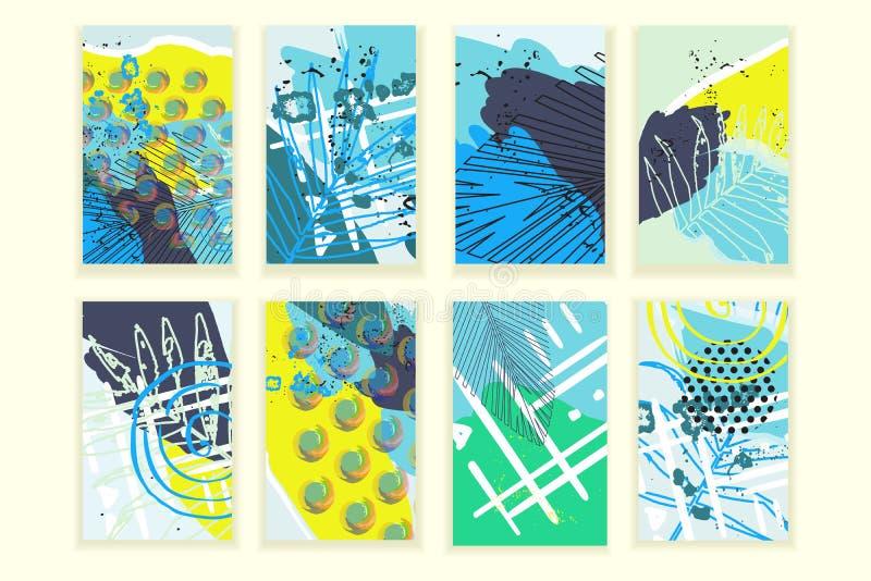 Abstrakt affischuppsättning för universal vektor illustrationer