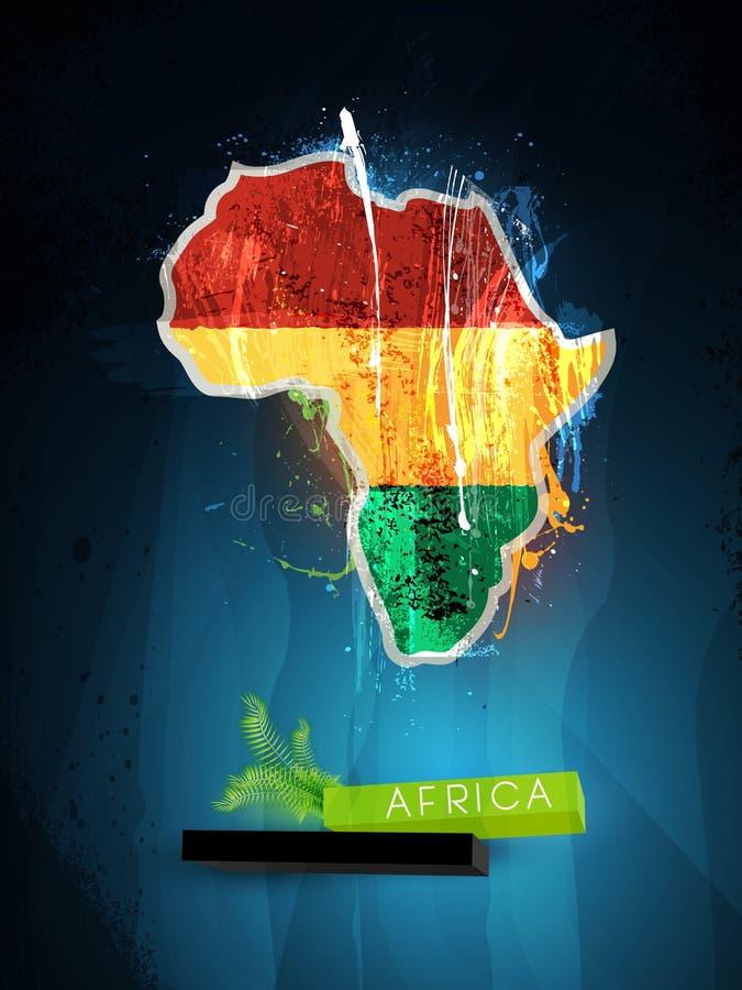 abstrakt africa kontinentillustration vektor illustrationer