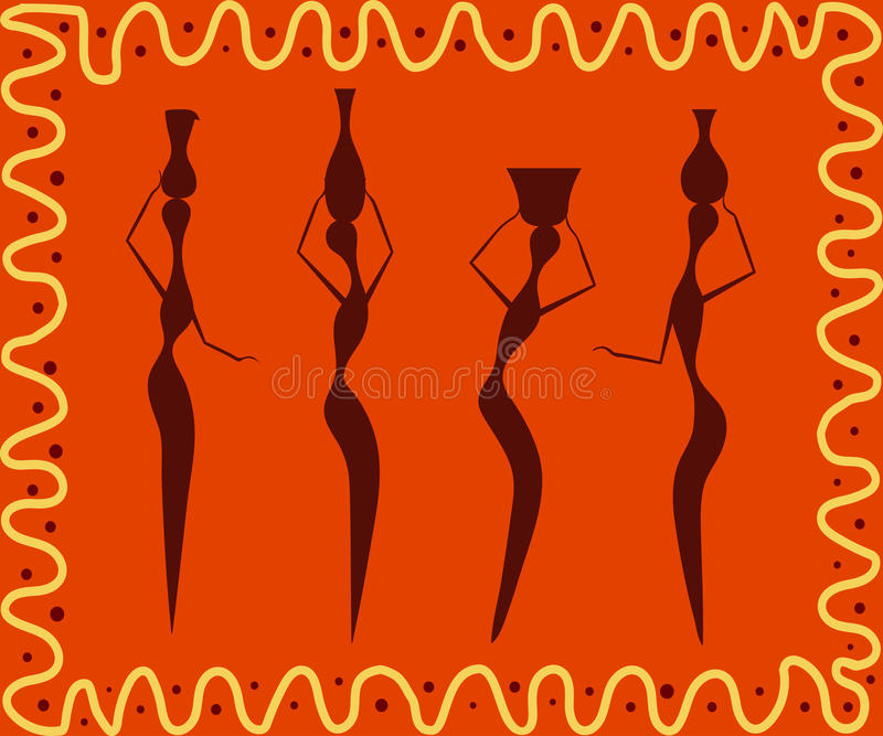Abstrakt afrikansk etnisk modell vektor illustrationer