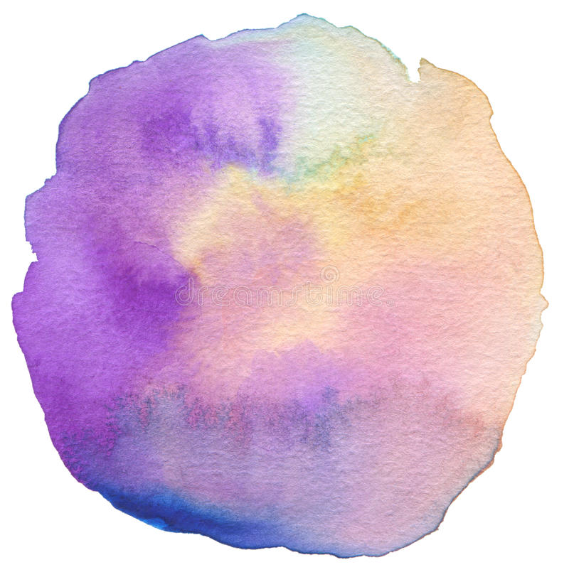 Abstrakt akryl och vattenfärg målad ram fotografering för bildbyråer