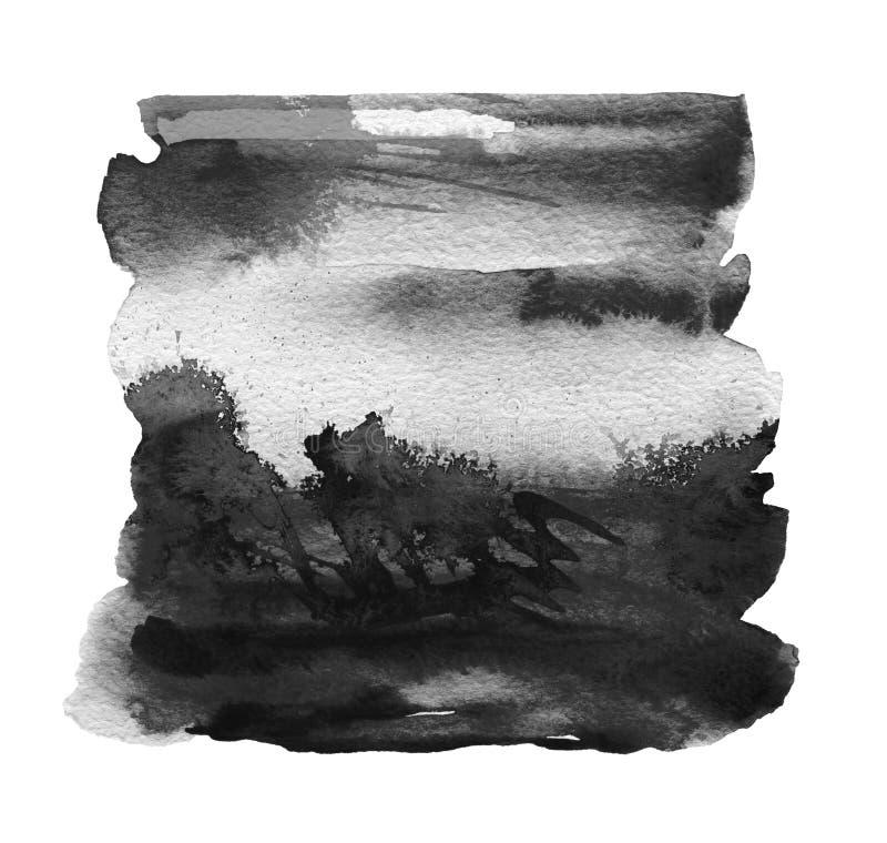 Abstrakt akryl och vattenf?rg m?lad ram Pappers- bakgrund f?r textur stock illustrationer