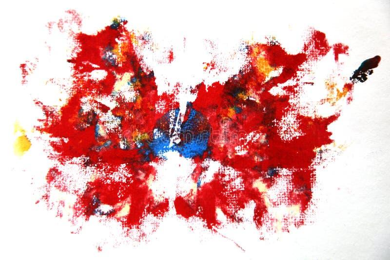 Abstrakt akrylmålarfärg stock illustrationer