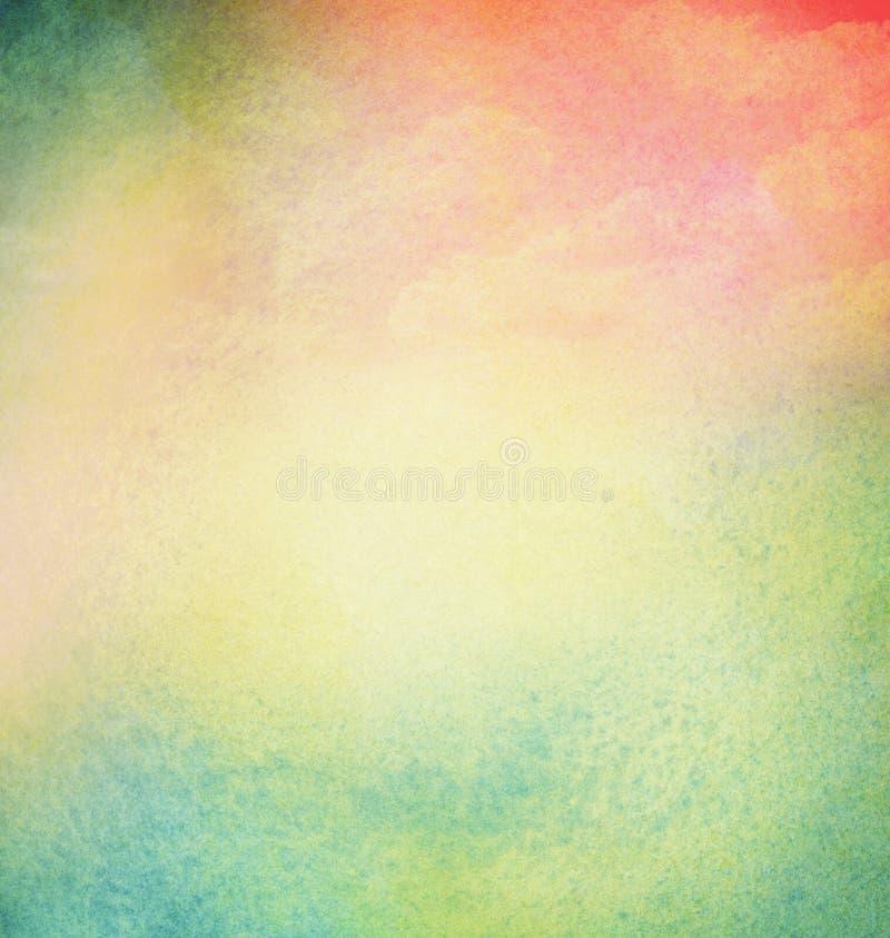 Abstrakt akwareli lekki kolorowy tło z ilustracja wektor
