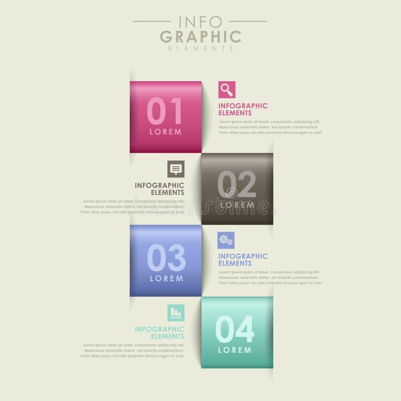 Abstrakt alternativinfographics vektor illustrationer