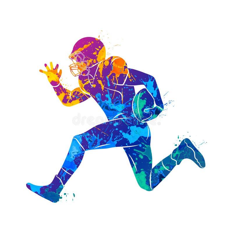 abstrakt amerikansk fotbollsspelare vektor illustrationer