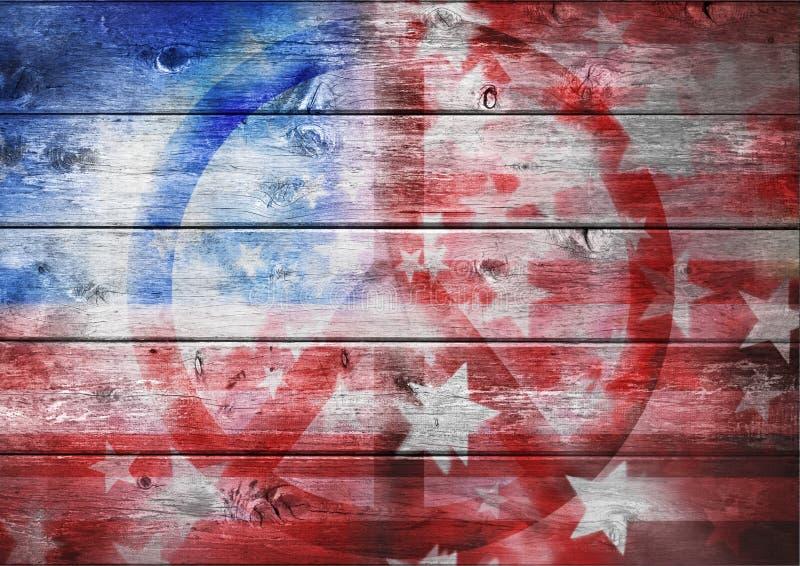 Abstrakt amerikansk fredflagga fotografering för bildbyråer