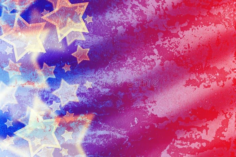 Abstrakt amerikanska flaggan stock illustrationer