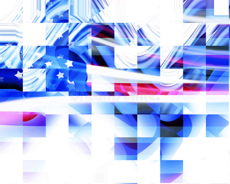Abstrakt amerikanska flaggan royaltyfri illustrationer