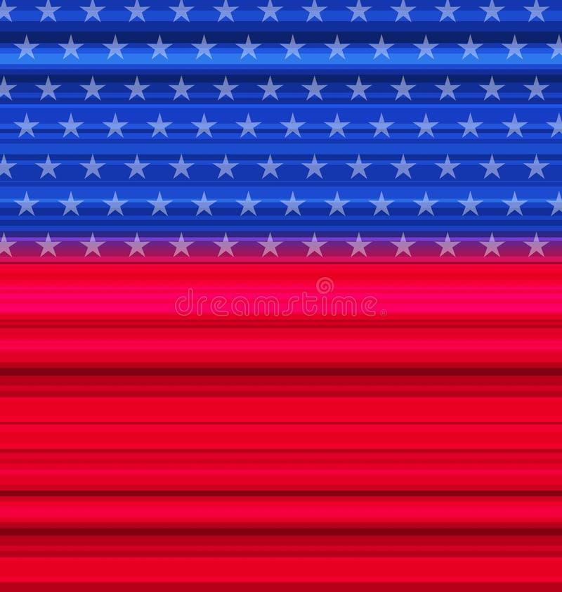 Abstrakt amerikanska flaggan för lyckligt 4th juli stock illustrationer