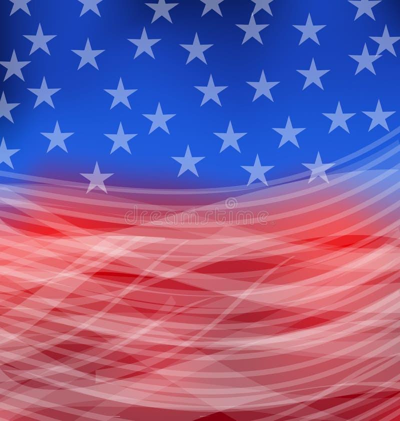 Abstrakt amerikanska flaggan för lyckligt 4th juli royaltyfri illustrationer