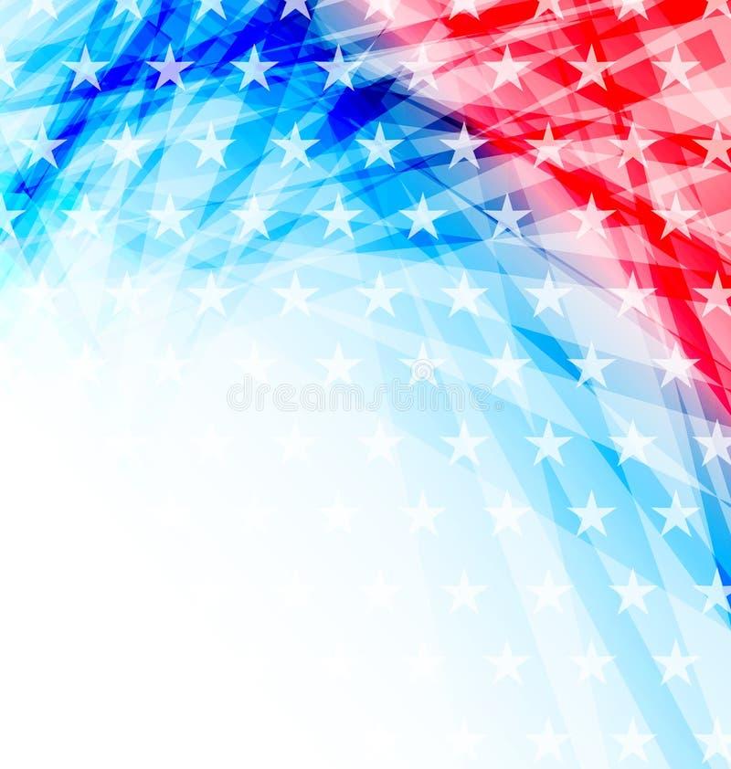 Abstrakt amerikanska flaggan för självständighetsdagen royaltyfri illustrationer