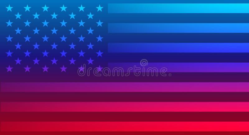 Abstrakt amerikanska flagganvektorbakgrund vektor illustrationer
