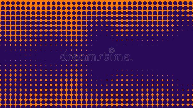 Abstrakt apelsin och purleduotonebakgrund Rastrerad textur Blå och purpurfärgad textur för moderiktig lutning stock illustrationer