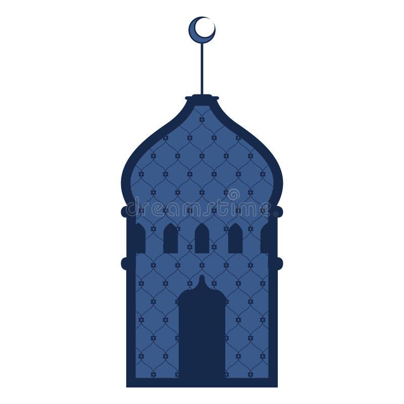 Abstrakt arabisk tempel ramadan kareem royaltyfri illustrationer