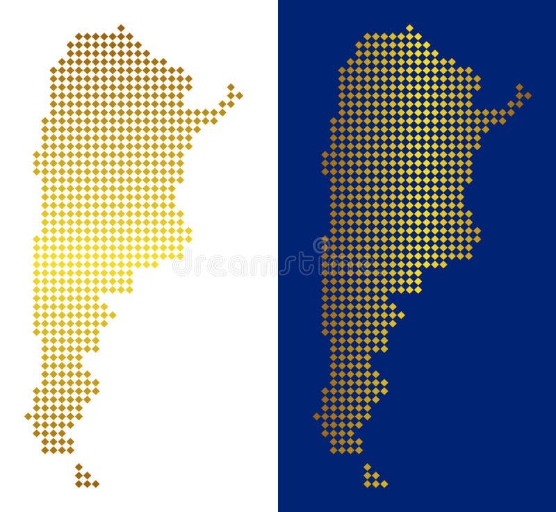 Abstrakt Argentina för guld översikt stock illustrationer