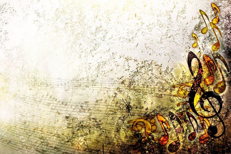 Abstrakt arkgrungemusik försilvrar texturbakgrundsramen stock illustrationer