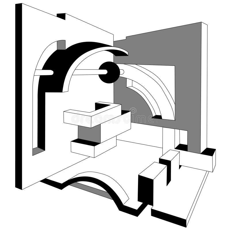 abstrakt arkitektur stock illustrationer
