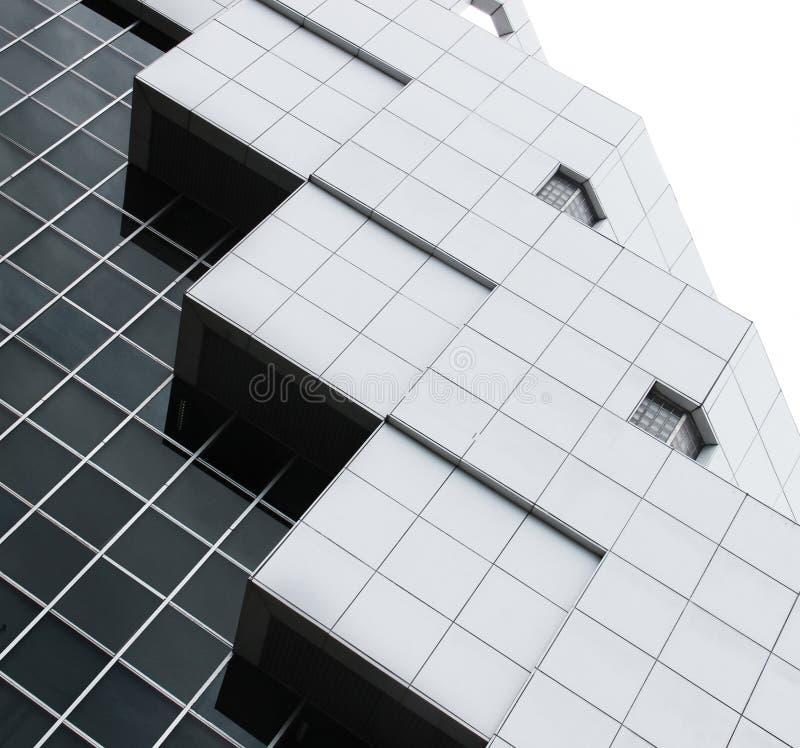 Abstrakt arkitektur av en modern byggnad royaltyfri fotografi