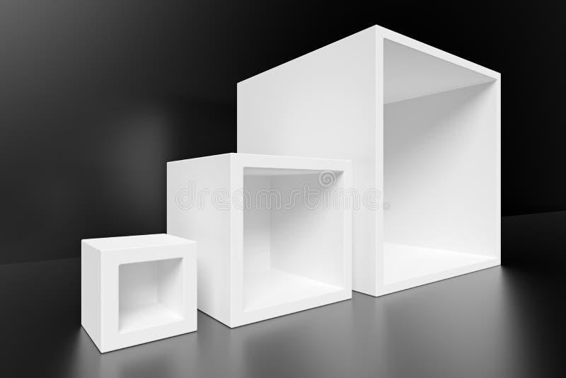 abstrakt arkitekturbakgrund Vit minsta inredesign vektor illustrationer