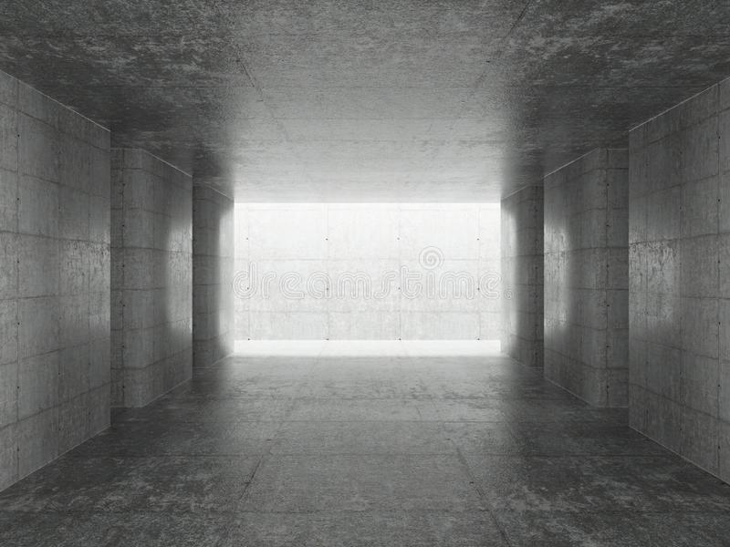 Abstrakt arkitekturInterior royaltyfri illustrationer
