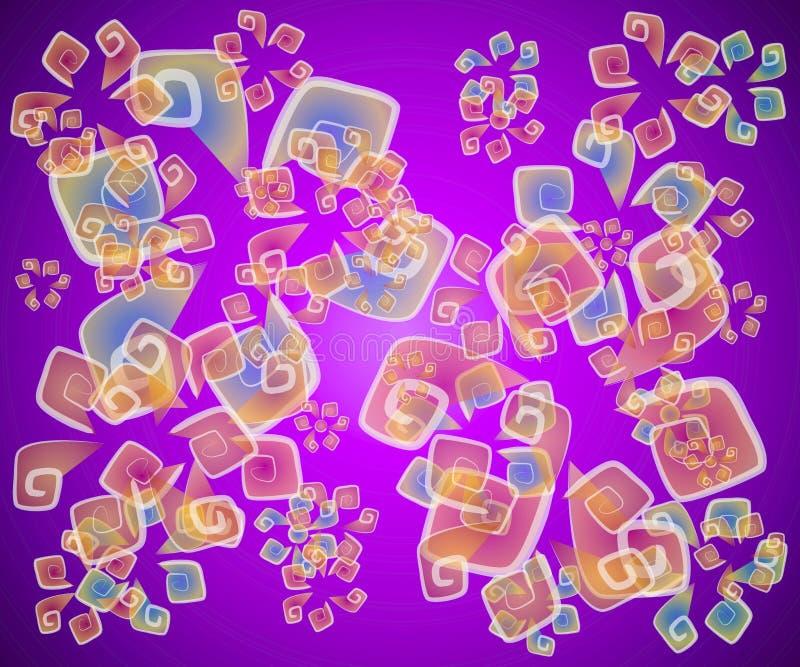abstrakt artsy purpur textur vektor illustrationer