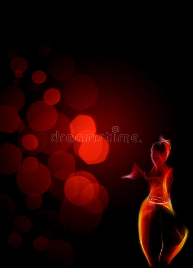 Abstrakt asiatisk dansbakgrund royaltyfri bild